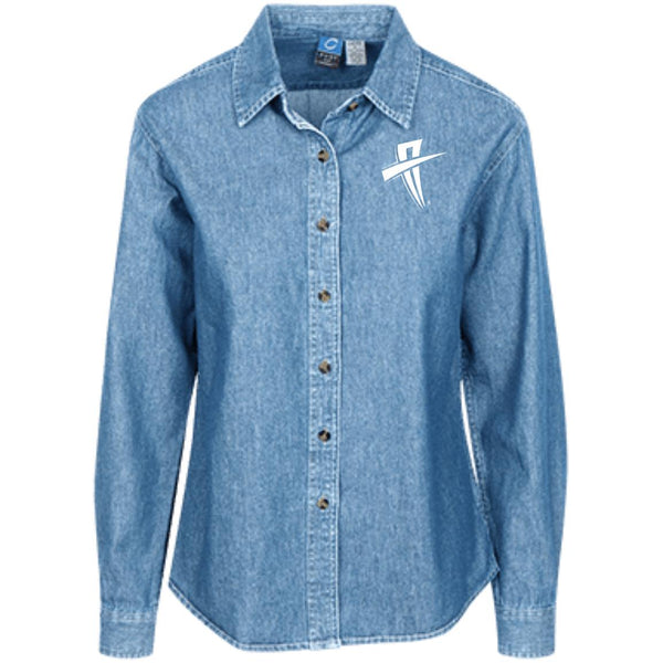 Soul Trotters Action Cross  Women's LS Denim Shirt - Soul Trotters