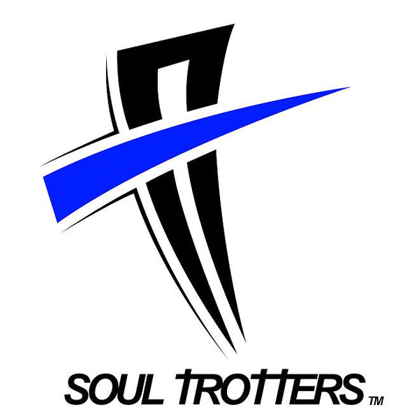 Mens Short Sleeve - Soul Cool Fit T-Shirt - True Royal w/ Black Strip on Sleeve - Soul Trotters