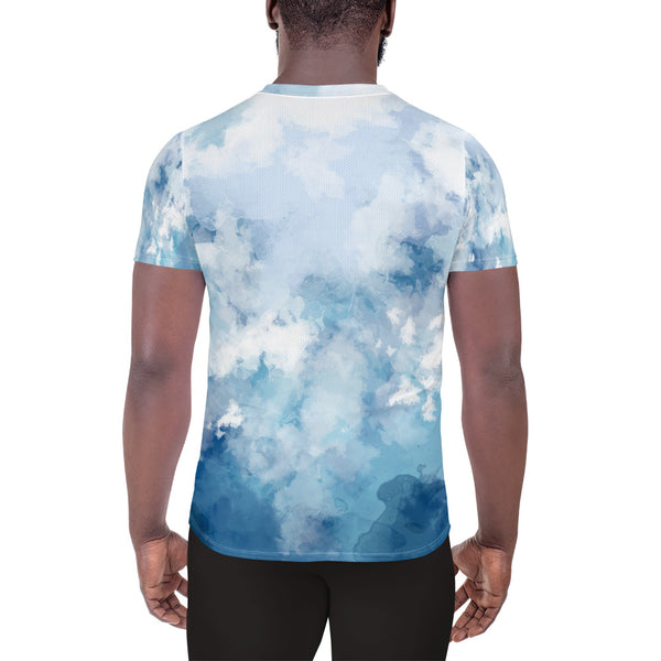 Soul Trotters Action Cross - Men's All-Over Print Athletic T-Shirt Caribbean Blue - Soul Trotters