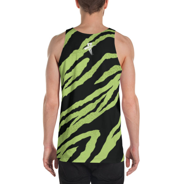 Soul Trotters Men's Mint Zebra All-Over Print Muscle Shirt