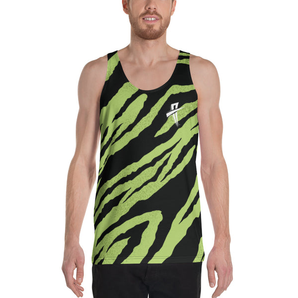 Soul Trotters Men's Mint Zebra All-Over Print Muscle Shirt - Soul Trotters
