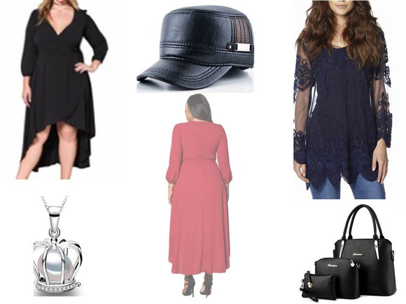 Women's dresses and accessories