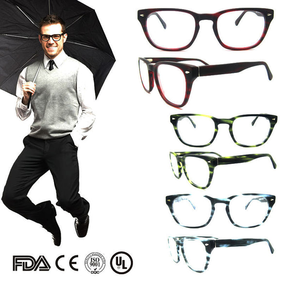 2017 Men's top quality grey eyeglass frames