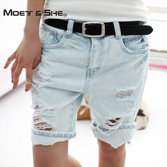 Girl's and Women's Plus Size 2017 Hot Women's Jean Shorts