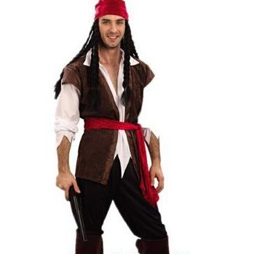 2PC Halloween Plus Size Pirate Costume With Hat Lovers' Garment (Free Shipping)