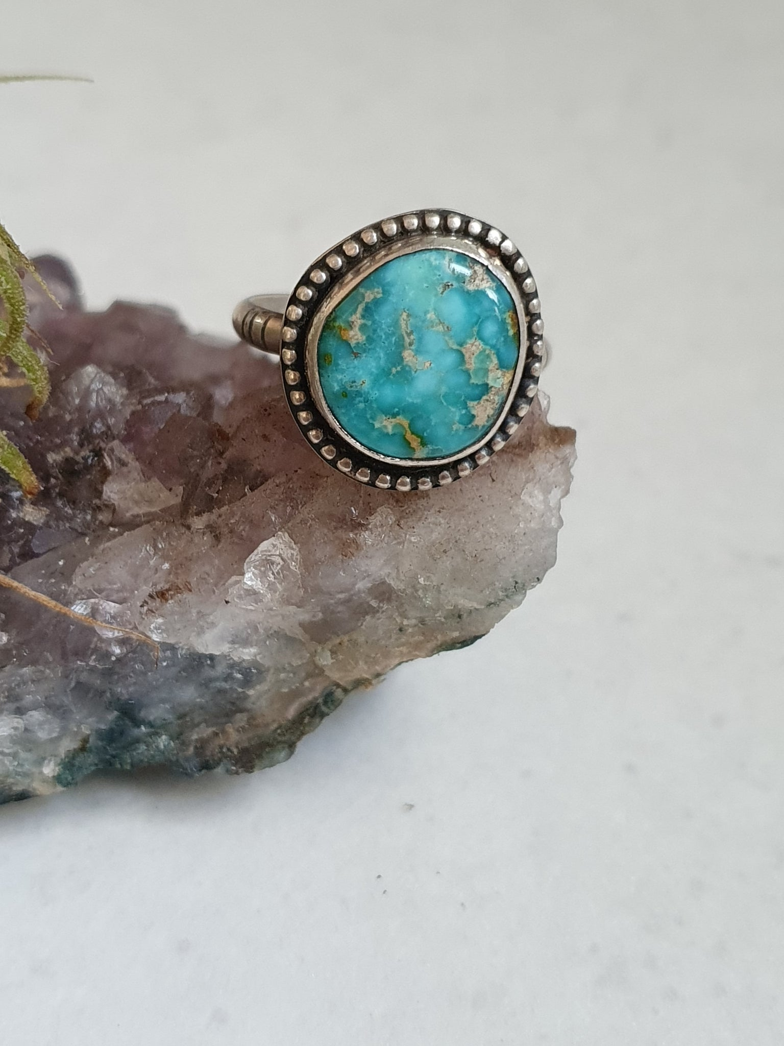 Sonoran gold turquoise ring