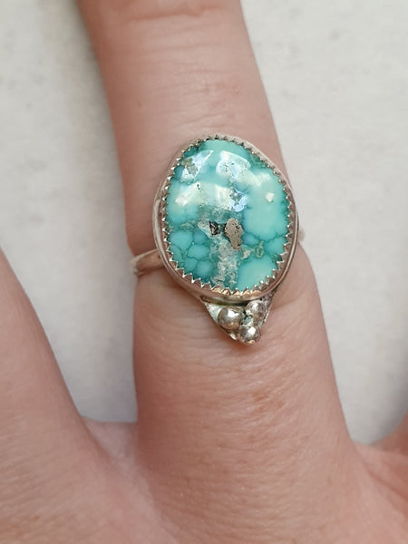 Whitewater Turquoise Sterling Ring