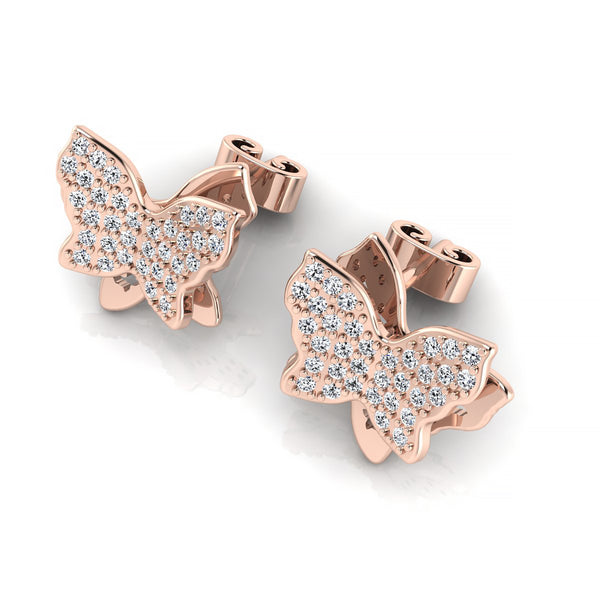 Women's Butterfly Diamond Earrings