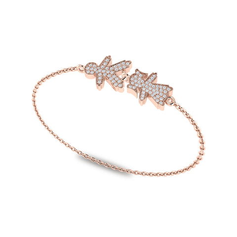 Stackable Mommy & Me Diamond Bracelet