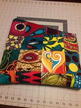 Patchwork Ankara Clutch with Black Leather