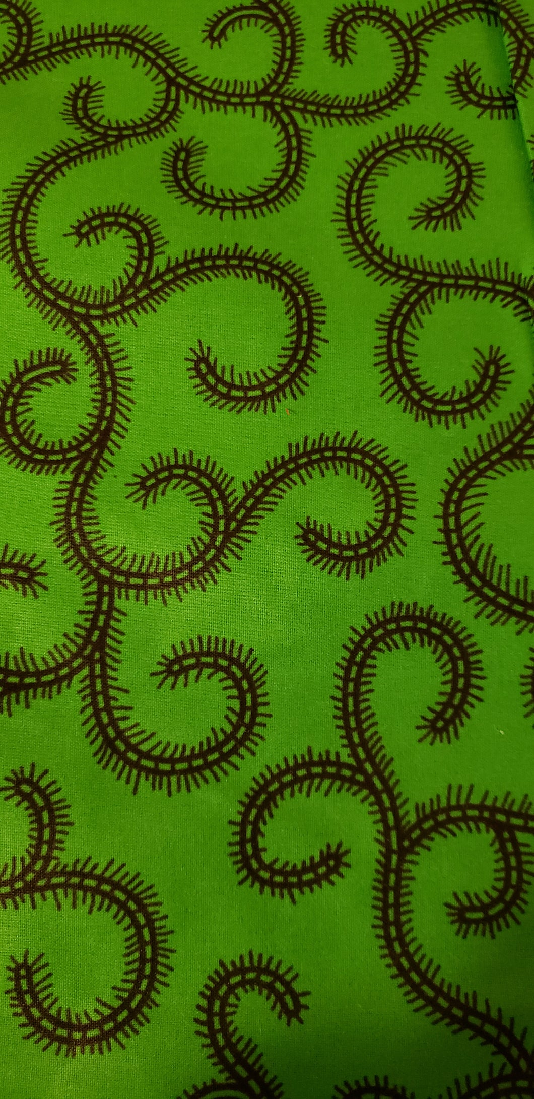 Green and Black Swirls(half yard)