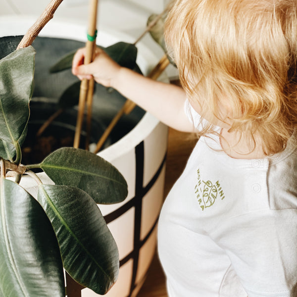 Mini monstera kids tee
