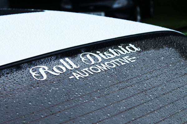 Roll District Automotive Sticker