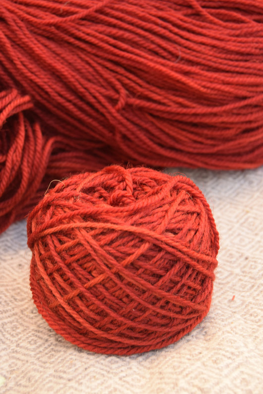 Dark Red (Madder) Yarn
