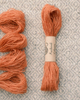 Orange (Madder+Copper) embroidery thread/weaving yarn