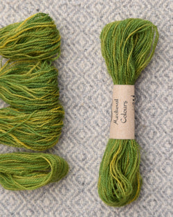 Green (Weld+Woad) embroidery thread/weaving yarn