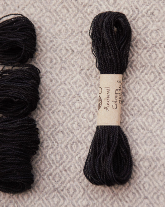 Black (Madder+Woad+Weld) embroidery thread/weaving yarn