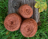 NEW Orange (Madder) Yarn (Shetland sheep)