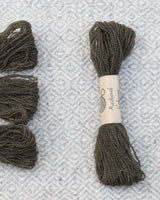 Grey (Alder Bark+Iron) embroidery thread/weaving yarn