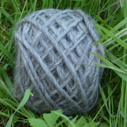 Natural Grey Bulky Yarn
