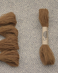 Brown (gallnuts) embroidery thread/weaving yarn