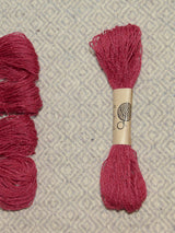 Pink (Kerria lacca) embroidery thread/weaving yarn