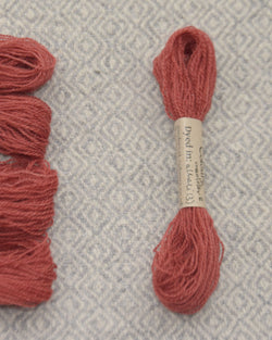 Pinky Red (Madder+Alkali) embroidery thread/weaving yarn
