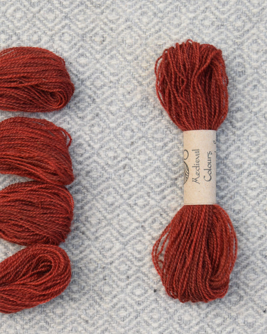 Burgundy (Madder+Woad) embroidery thread/weaving yarn