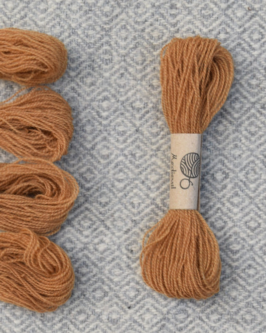 Orange Brown (Oak Bark) embroidery thread/weaving yarn