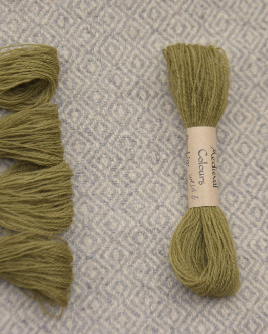Olive (Weld+Iron) embroidery thread/weaving yarn