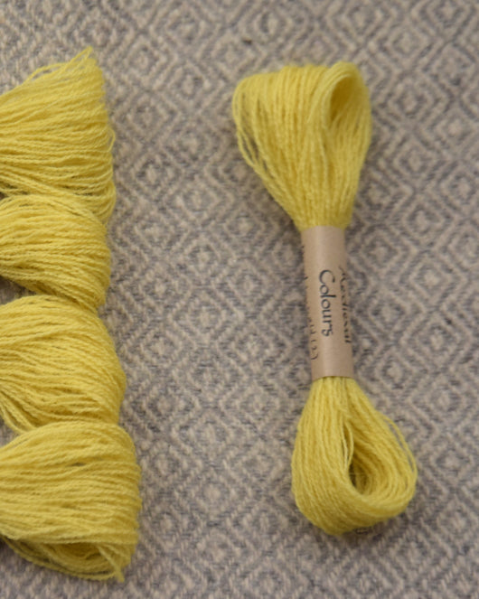 Pale Yellow (Weld) embroidery thread/weaving yarn