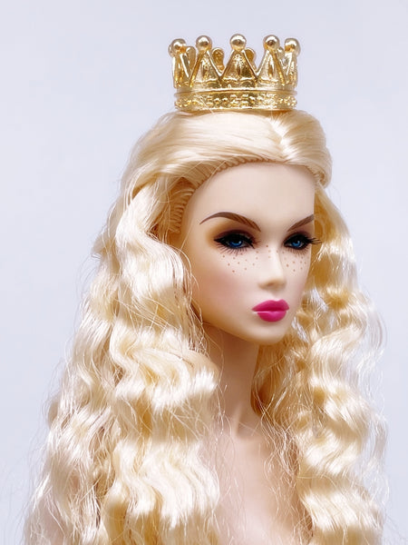 A008 Metal Crown 23×13mm Doll Crown Hair Accessories Barbie Poppy Parker Fashion Royalty Silkstone