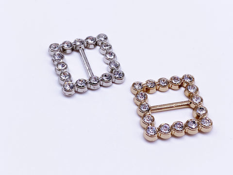 B039 Squared Buckle With Crystal Mini Buckles Sewing Craft Doll Clothes Making