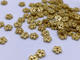 B078 Metal 5mm Flower Buttons Micro Mini Buttons Tiny Buttons Doll Buttons