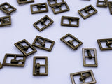 B079 Old Metal Color 7×11mm Square Doll Mini Buckles Doll Sewing Supplies Doll