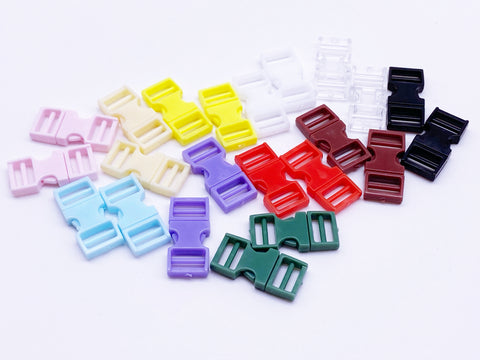 B101 8×16mm Mini Side Release Plastic Buckles Doll Sewing Supplies 2 Pairs
