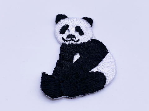 B113 Cute Panda Iron On Patch Embroidered Patch Mini Patch Doll Sewing Supplies