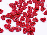 B121 Small/Large Heart Buttons Micro Mini Buttons Tiny Buttons Doll Buttons Doll