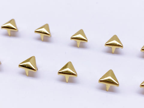 B128 Triangle Shape 6mm Mini Craft Studs Sewing Craft Doll Clothes Making Sewing