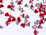 B129 Heart Shape 6mm Mini Rivet Studs Doll Clothes Sewing Craft Doll Supply