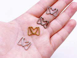 B134 Lovely Buckle With Heart 13×16mm Mini Metal Buckles Doll Clothes Sewing