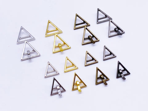 B143M Silver Color 10\u00d710mm Mini Triangle Metal Pin Buckle Doll Clothes Sewing Craft Supply Blythe BJD Barbie
