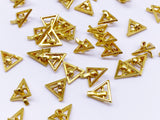 B143 Mini Triangle Metal Buckle With Pin Doll Clothes Sewing Craft Supply Blythe BJD Barb