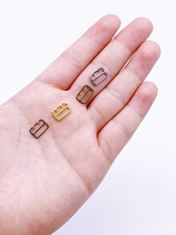 B144 Long Square 7.5mm ×11mm Mini Buckles Sewing Craft Doll Clothes Making