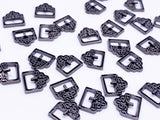 B152 Tiny 9mm Buckle With Pattern Mini Buckles Doll Sewing Doll Craft Supply Doll Clothes Making