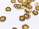 B154 Daisy Flower 8mm Doll  Buttons Sewing Craft Doll Clothes Making Sewing Supply
