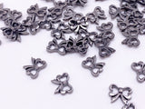 B162 Cute Bow Shape 7mm  Buttons Micro Mini Buttons Tiny Buttons Doll Buttons Doll Sewing Craft Supplies