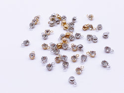 B166 3.5mm Micro Mini Glass With Silver Color Base Charm For Doll Jewelry Clothes Doll Sewing Craft