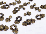 B167C Bronze Decorative Hook Buckle 9×18mm Mini Buckles Sewing Craft Doll Clothes Making Sewing Supply