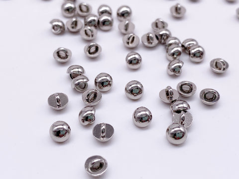 B171 Round Head Buttons 4mm Shank Buttons Micro Mini Buttons Tiny Buttons Doll Buttons Doll Sewing Craft Supplies
